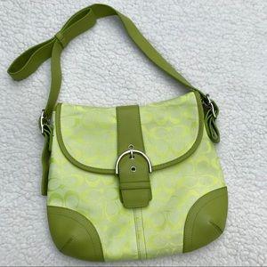 COACH Crossbody Signature Like New Lime Green  Bag
